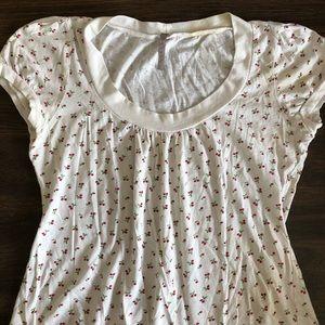 Vintage cotton cherry shirt size M